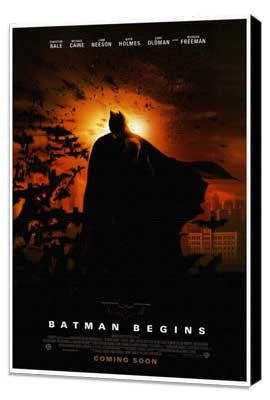 Batman Begins - 27 x 40 Movie Poster - Style B - Museum Wrapped Canvas