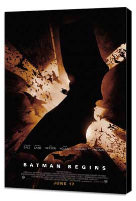 Batman Begins - 27 x 40 Movie Poster - Style F - Museum Wrapped Canvas