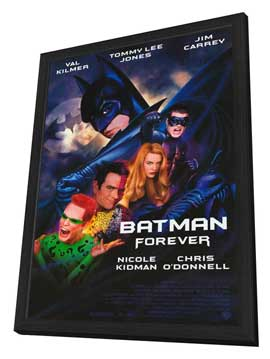 Batman Forever - 11 x 17 Movie Poster - Style A - in Deluxe Wood Frame