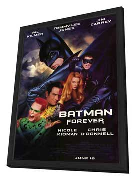 Batman Forever - 27 x 40 Movie Poster - Style A - in Deluxe Wood Frame