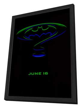 Batman Forever - 27 x 40 Movie Poster - Style H - in Deluxe Wood Frame