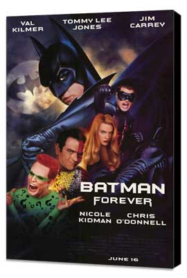 Batman Forever - 27 x 40 Movie Poster - Style A - Museum Wrapped Canvas