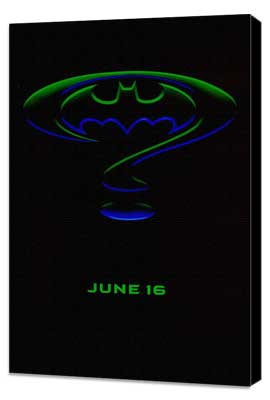 Batman Forever - 27 x 40 Movie Poster - Style H - Museum Wrapped Canvas