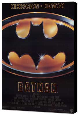 Batman - 27 x 40 Movie Poster - Style A - Museum Wrapped Canvas