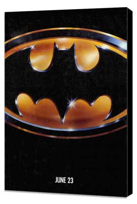 Batman - 27 x 40 Movie Poster - Style C - Museum Wrapped Canvas