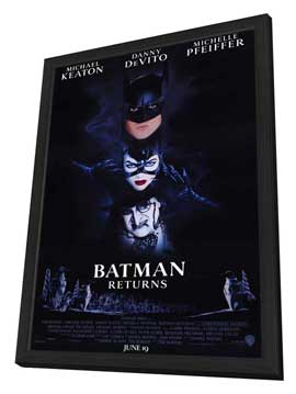 Batman Returns - 11 x 17 Movie Poster - Style A - in Deluxe Wood Frame