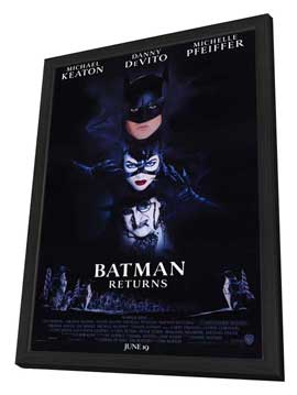 Batman Returns - 27 x 40 Movie Poster - Style A - in Deluxe Wood Frame