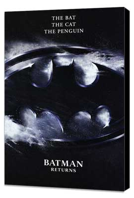 Batman Returns - 11 x 17 Movie Poster - Style M - Museum Wrapped Canvas