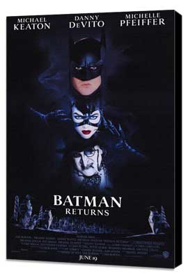 Batman Returns - 27 x 40 Movie Poster - Style A - Museum Wrapped Canvas