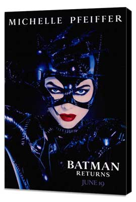 Batman Returns - 27 x 40 Movie Poster - Style D - Museum Wrapped Canvas