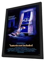 *batteries not included - 11 x 17 Movie Poster - Style A - in Deluxe Wood Frame