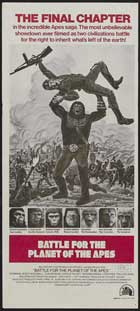Battle for the Planet of the Apes - 13 x 30 Movie Poster - Australian Style A