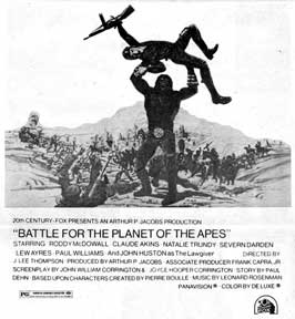 Battle for the Planet of the Apes - 11 x 17 Movie Poster - Style D