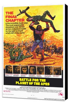 Battle for the Planet of the Apes - 11 x 17 Movie Poster - Style A - Museum Wrapped Canvas