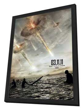 Battle: Los Angeles - 11 x 17 Movie Poster - Style F - in Deluxe Wood Frame