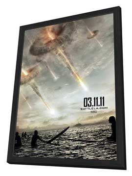 Battle: Los Angeles - 27 x 40 Movie Poster - Style A - in Deluxe Wood Frame