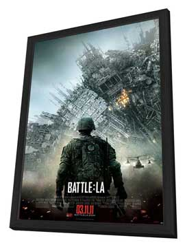 Battle: Los Angeles - 27 x 40 Movie Poster - Style C - in Deluxe Wood Frame