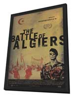 The Battle of Algiers - 11 x 17 Movie Poster - Style B - in Deluxe Wood Frame