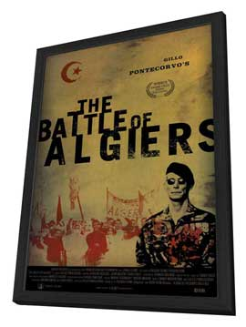 The Battle of Algiers - 27 x 40 Movie Poster - Style B - in Deluxe Wood Frame