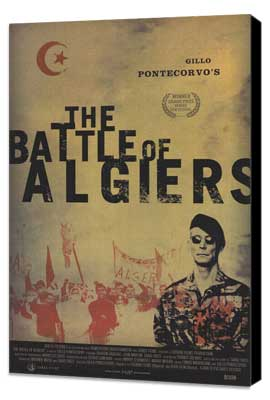 The Battle of Algiers - 11 x 17 Movie Poster - Style B - Museum Wrapped Canvas