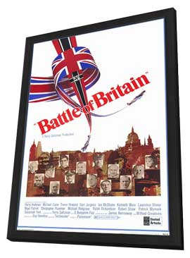 Battle of Britain - 27 x 40 Movie Poster - Style A - in Deluxe Wood Frame