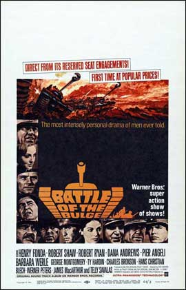 Battle of the Bulge - 14 x 22 Movie Poster - Window Card