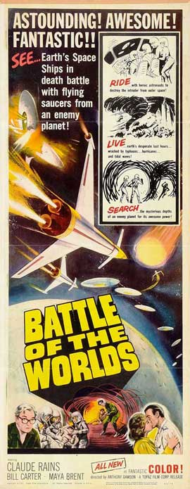 Battle of the Worlds - 14 x 36 Movie Poster - Insert Style A
