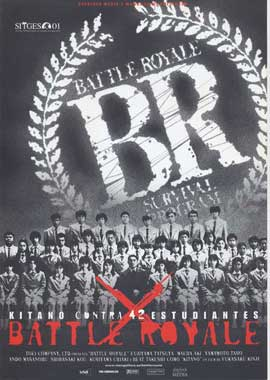 Battle Royale - 11 x 17 Movie Poster - Spanish Style A