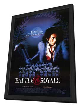 Battle Royale - 27 x 40 Movie Poster - Style A - in Deluxe Wood Frame