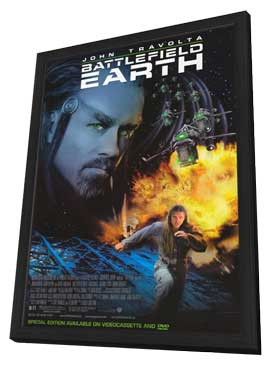 Battlefield Earth - 11 x 17 Movie Poster - Style A - in Deluxe Wood Frame