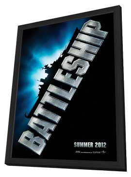 Battleship - 11 x 17 Movie Poster - Style A - in Deluxe Wood Frame