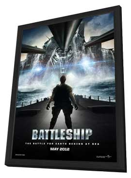 Battleship - 27 x 40 Movie Poster - Style A - in Deluxe Wood Frame