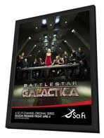 Battlestar Galactica - 27 x 40 TV Poster - Style L - in Deluxe Wood Frame