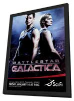 Battlestar Galactica - 11 x 17 TV Poster - Style A - in Deluxe Wood Frame