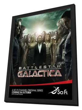 Battlestar Galactica - 27 x 40 TV Poster - Style P - in Deluxe Wood Frame