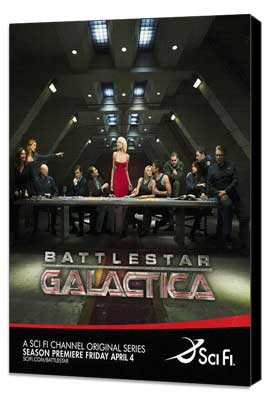 Battlestar Galactica - 27 x 40 TV Poster - Style L - Museum Wrapped Canvas