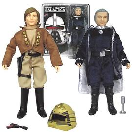 Battlestar Galactica - Lt. Starbuck and Cdr. Adama Figures