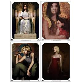 Battlestar Galactica - Ladies Gallery Collection Prints 4-Pack