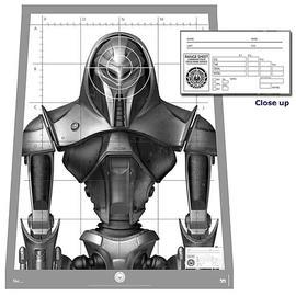 Battlestar Galactica - Cylon Centurion Target Poster Replica