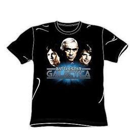 Battlestar Galactica - Classic Three Character T-Shirt