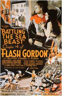 Battling the Sea Beast - 43 x 62 Movie Poster - Bus Shelter Style A