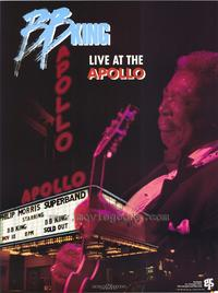 B.B. King Live at the Apollo - 43 x 62 Movie Poster - Bus Shelter Style A
