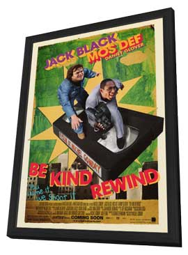Be Kind Rewind - 27 x 40 Movie Poster - Style A - in Deluxe Wood Frame