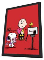 Be My Valentine, Charlie Brown - 11 x 17 Movie Poster - Style B - in Deluxe Wood Frame
