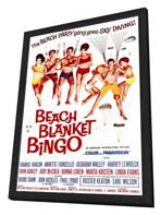 Beach Blanket Bingo - 11 x 17 Movie Poster - Style A - in Deluxe Wood Frame