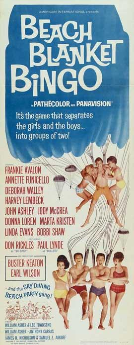 Beach Blanket Bingo - 14 x 36 Movie Poster - Insert Style A