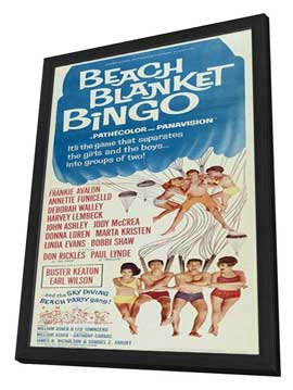Beach Blanket Bingo - 14 x 36 Movie Poster - Insert Style A - in Deluxe Wood Frame