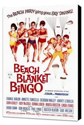 Beach Blanket Bingo - 27 x 40 Movie Poster - Style A - Museum Wrapped Canvas