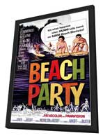Beach Party - 11 x 17 Movie Poster - Style A - in Deluxe Wood Frame