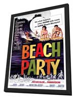 Beach Party - 27 x 40 Movie Poster - Style A - in Deluxe Wood Frame